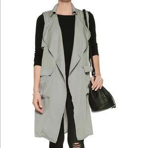 W118 BY WALTER BAKER Draped Voile Trench Vest